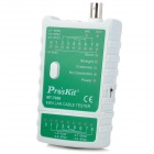 Pro'skit MT-7058 Mini Lan Cable Tester - White + Green