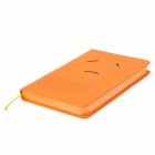 Cute Cartoon Expression Hardness Cover Notebook Notepad - Orange (100-Pages)