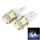 M2013010418 2W 80lm 6500K 5-SMD 5050 LED Car White Light Bulbs - White + Yellow