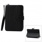 Protective PU Leather Case w/ Holder for Ipad MINI - Black