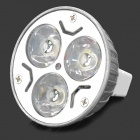 MR16-3W-Z GU5.3 3W 130lm 5500K White Light 3-2835 LED Bulb - Silver + White