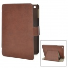 Stylish Protective PU Leather Case w/ Card Holder for Ipad MINI - Brown