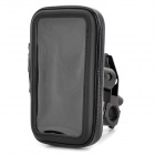 Motorcycle Bicycle Water Resistant Holder w/ Stand for GPS / Cell Phone - Black