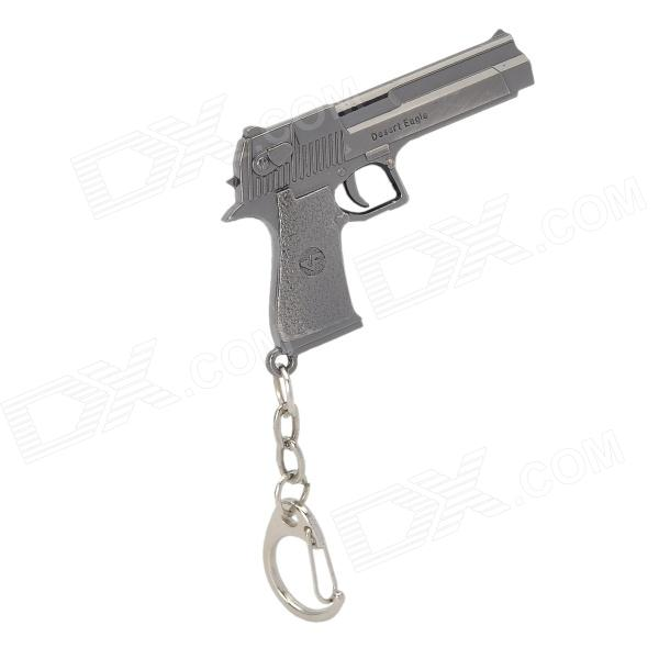 Pistol Style Zinc Alloy Gun Keychain / Toy - Silvery Black shooting equipment gun pistol adapter for motion controller ps3 move