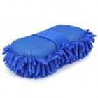 Chenille Fiber Car Washing Gloves - Deep Blue
