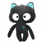 SY008 Car Decoration Cartoon Cat Toy Throw Pillow with Noctilucent Eyes - Black + White + Blue