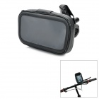"Universal Motorcycle Water Resistant Bag + Holder Set for 4.3""~5"" GPS / Cell Phone - Black"