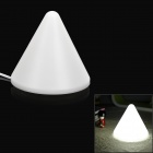 Pyramid Style G4 5W 420lm 6500K 1-LED White Light Bed Clamp Lamp w/ EU Plug - White (AC 220~240V)