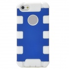 Stylish Protective Plastic + Silicone Back Case for Iphone 5 - Blue + White