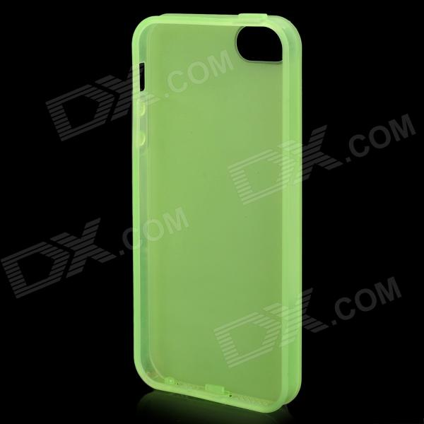 Protective Silicone + TPU Back Case for Iphone 5 - Translucent Green + Black + White new keyboard for lenovo thinkpad sl500 us layout