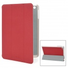 Stylish Protective PU Leather Case for iPad Mini - Red + White