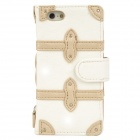 SAMDI Protective PU Leather Case for Iphone 5 - White