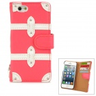 SAMDI Protective PU Leather Case for Iphone 5 - Red