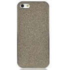 Shimmering Powder Pattern Protective Plastic Back Case for Iphone 5 - Coffee + Silver