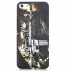 M4A1 Carbine Pattern Protective Plastic Back Case for iPhone 5 - Black