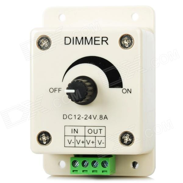 XY-D-RK01 mini manuell LED-ljus band dimmer - beige (12 ~ 24V)