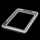 Protective Plastic Bumper Frame for iPad Mini - White + Transparent