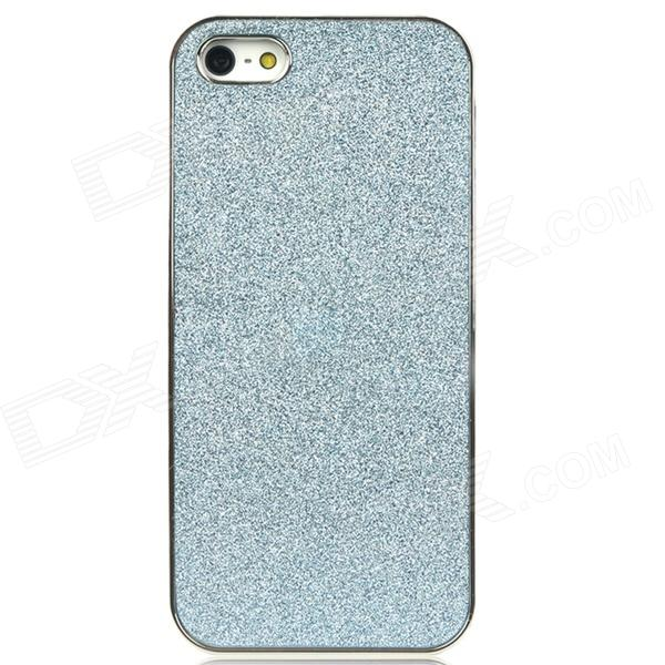 Shimmering Powder Pattern Protective Plastic Back Case for Iphone 5 - Light Blue + Silver