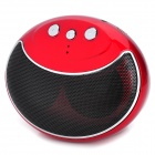 Smiley Face Style Bluetooth V3.0+EDR MP3 Music Speaker for Cell Phone / PC - Red + Black