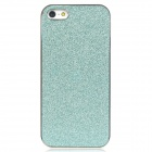 Shimmering Powder Pattern Protective Plastic Back Case for Iphone 5 - Turquoise + Silver