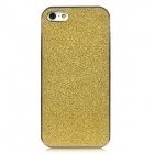 Shimmering Powder Pattern Protective Plastic Back Case for Iphone 5 - Golden + Silver
