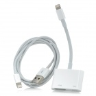 8-Pin-Blitz HDMI-Kabel + USB-Ladekabel für iPhone 5 / iPod touch 5 / Nano + More - Weiß