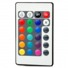 24-Key Wireless Infrared IR Remote Controller for LED Light Strip - White (1 x CR2025)