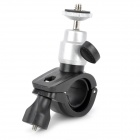 Universal Motorcycle Bicycle Swivel Mount Holder for GPS + Cellphone + Camera + More - Black