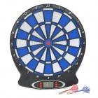 WJ100 ABS Electronic Dartboard w/ Darts Game - Black + Blue + White