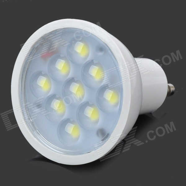 GU10 4W 280lm 5500K 9-LED White Light Bulb - White (85~254V)