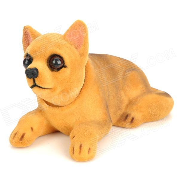 Swing Rocking Dog Style Car Decoration Scented Air Fresher - Yellowish Brown