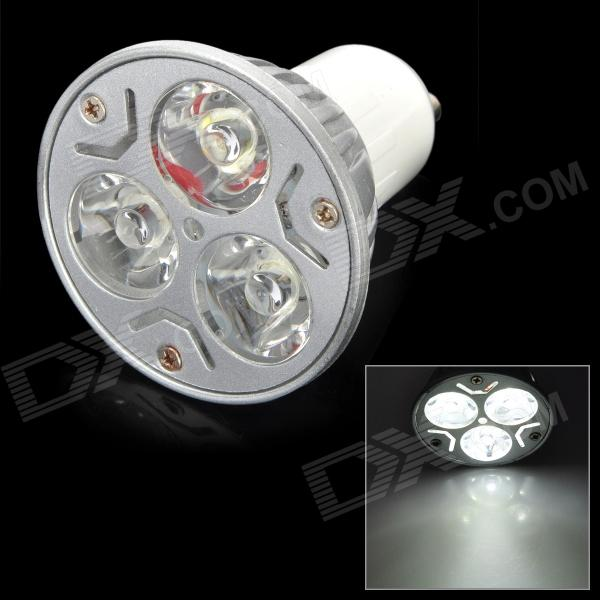 GU10-3W-Z GU10 3W 3-LED 130lm 5500K 3-LED White Light Lamp - Silver + White (220V)