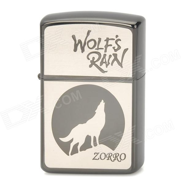 ZORRO Z9700 Wolf's Rain Cartoon Pattern Windproof Kerosene Oil Lighter - Grey