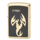 ZORRO z9615A Gold Scorpion Pattern Windproof Kerosene Oil Lighter - Black