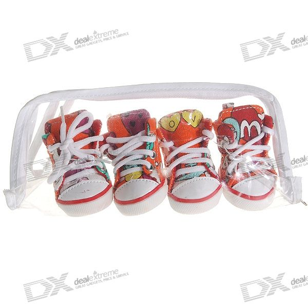 Cute Runner Shoes for Dogs/Cats - Size 2 (4-Shoe Set