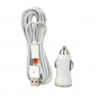 Car Power Charger + USB Lade-/ Datenkabel für iPhone 5 / iPad Mini - PC + ABS