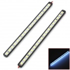 225lm 7000K 3.2W 18-SMD 5050 LED IP67 wasserdicht White Light Car Strips - Black