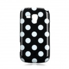 Protective Polka Dots Pattern Back Case for Samsung S7562 - Black + White