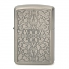 ZORRO Z2009F Art Flower Pattern Windproof Kerosene Oil Lighter - Grey