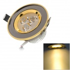 HDX-TH-0362 3W 120lm 3500K 3-LED Warm White Ceiling Light - Golden + Grey (110~240V)