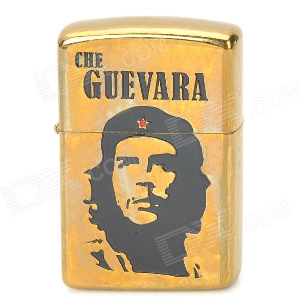 ZORRO Z2010B Che Guevara Image Pattern Windproof Kerosene Oil Lighter - Black + Golden