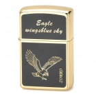 ZORRO z9608B Eagle Pattern Windproof Kerosene Oil Lighter - Black + Golden
