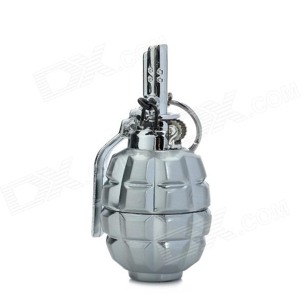 827 Grenades Shaped Alloy Lighter w/ Keychain - Silver kuroko s basketball kuroko no basuke mini pvc figure toys with keychain 9pcs set kbfg012