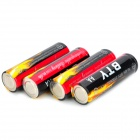 "BTY Rechargeable 1.2V ""3100mAh"" AA Battery - Black + Red (4 PCS)"