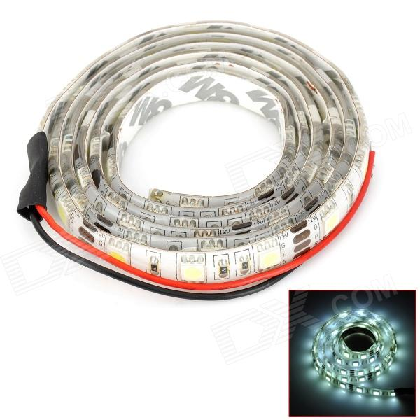 D&Z 5050-60W 12W 900lm 60-SMD 5050 LED IP65 Waterproof White Light Strips w/ Cable - White + Yellow