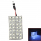 D13011522X 3.08W 196lm 6000K 28-LED Car Roof White Lamp - Transparent + Yellow + White