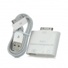 Multifunction Card Reader Adapter w/ USB Data Cable for iPad / iPad 2 / New iPad - White