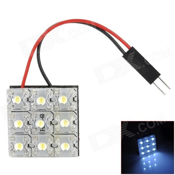 D13011517X 0.9W 63lm 6000K 9-LED Car Roof White Lamp - Transparent + Yellow + White