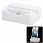Charging Dock Station + USB Cable for iPhone 5 - White