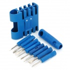 07020026 8-in-1 Slotted / Phillips Screwdrivers + Test Pencil Set - Blue + Silver